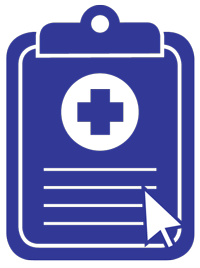 graphic of clipboard with a computer cursor hovering over it