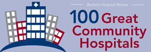 100 Great Community Hospitals badge