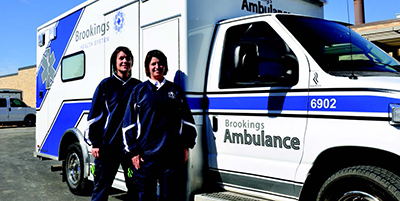 Brookings Health System Ambulance and staff