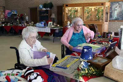 brookview manor residents mae begalka left of estelline sd and mavis deboer