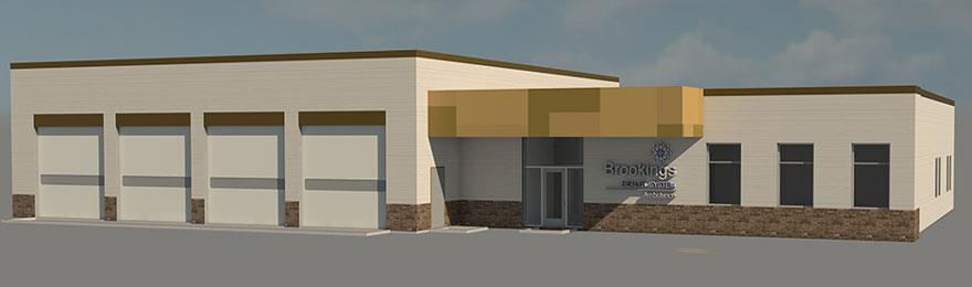 Rendering of future ambulance station & education center